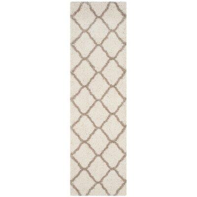 Buford Ivory/Beige Area Rug Rug Size: Runner 23 x 12
