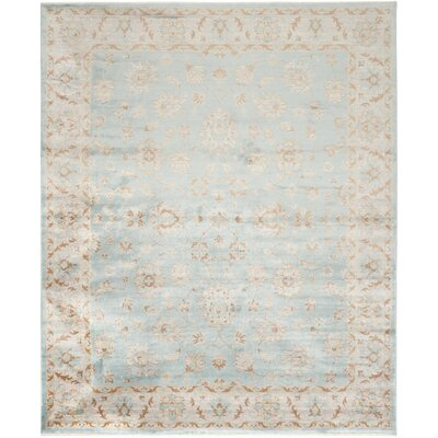 Prades Tibetan Hand Loomed Light Blue/Ivory Area Rug Rug Size: Rectangle 5 x 8