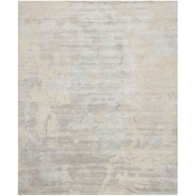 Elrod Tibetan Hand Knotted Light Blue Area Rug Rug Size: Rectangle 8 x 10
