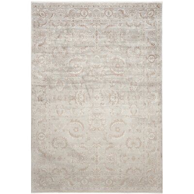 Prades Tibetan Hand Loomed Gray/Ivory Area Rug Rug Size: Rectangle 9 x 12