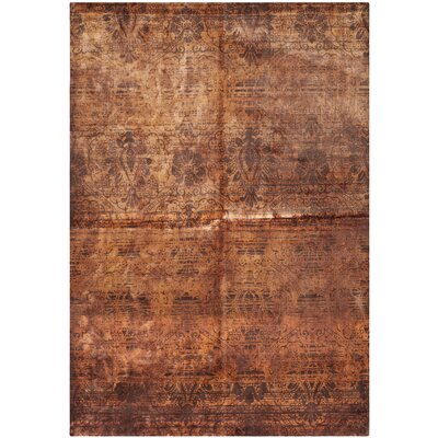Youmans Hand Loomed Wool Brown Area Rug Rug Size: Rectangle 6 x 9