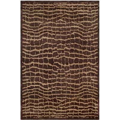 Youmans Tibetan Hand Knotted Wool Brown/Beige Area Rug Rug Size: Rectangle 4 x 6