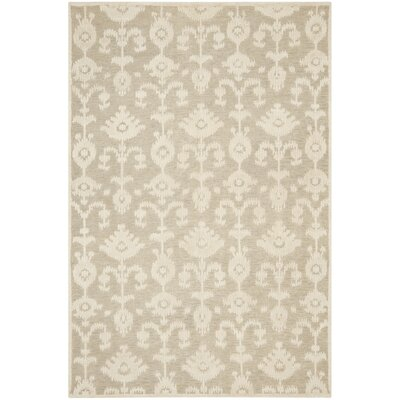 Benningfield Tibetan Hand Knotted Beige Area Rug Rug Size: Rectangle 6 x 9
