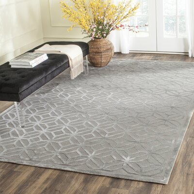 Fogg Tibetan Hand Knotted Slate Area Rug Rug Size: Rectangle 10 x 14