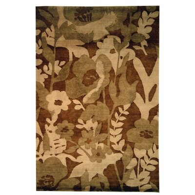 Bernick Hand Knotted Wool Brown/Beige Area Rug Rug Size: Rectangle 9 x 12