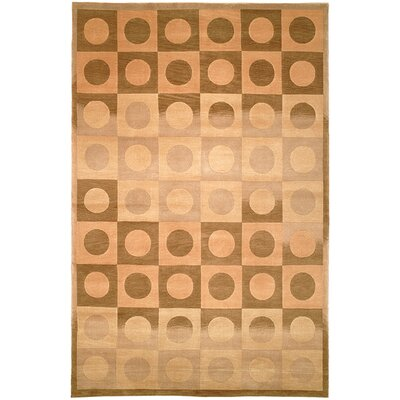 Ventura Hand Knotted Wool Beige/Brown Area Rug Rug Size: Rectangle 5 x 76