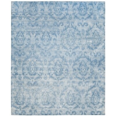 Vizcaino Tibetan Hand Knotted Sky Area Rug Rug Size: Rectangle 9 x 12