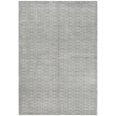 Paramkusham Tibetan Hand Knotted Gray Area Rug Rug Size: Rectangle 6 x 9