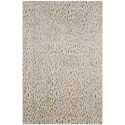 Honora Tibetan Hand Knotted Silver Area Rug Rug Size: Rectangle 4 x 6
