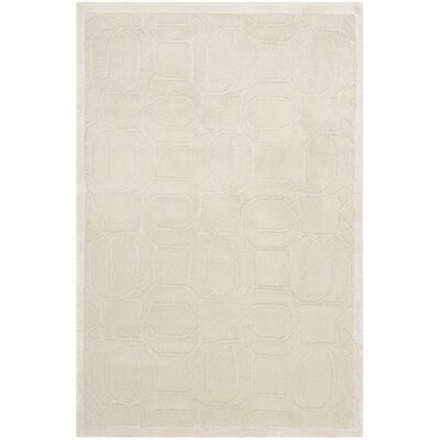 Galeton Hand-Knotted Beige Area Rug Rug Size: Rectangle 8 x 10