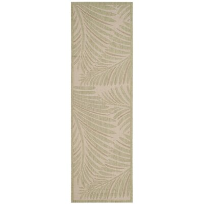 Bridgeville Tropic Palm Tan Area Rug Rug Size: Runner 27 x 82