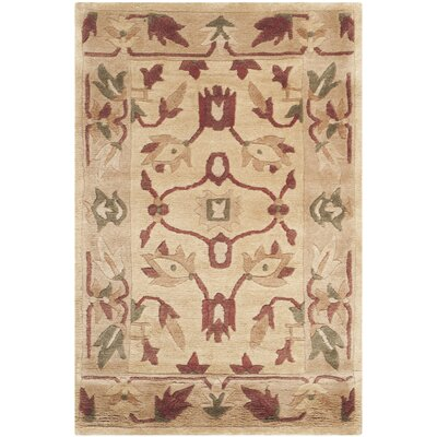 Tan Area Rug Rug Size: Rectangle 2 x 3