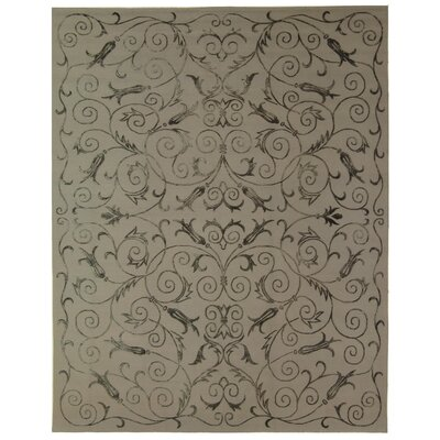 Honora Tibetan Hand Knotted Silk/Wool Pewter Area Rug
