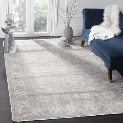 Prades Tibetan Hand Loomed Gray/Ivory Area Rug Rug Size: Rectangle 6 x 9