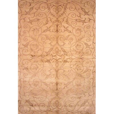 Honora Tibetan Hand Knotted Silk/Wool Light Gold Area Rug