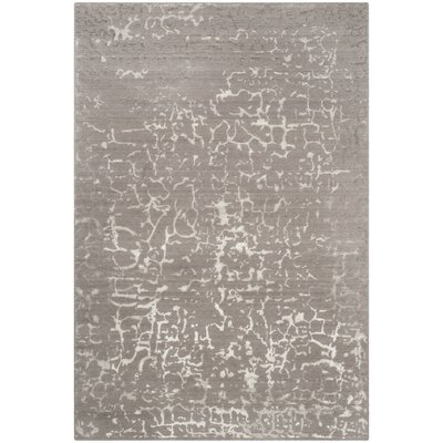 Wildhollow Tibetan Hand Loomed Gray/Ivory Area Rug