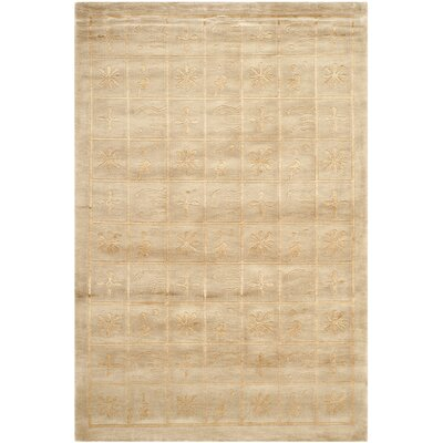 Tan Geometric Area Rug Rug Size: Rectangle 6 x 9