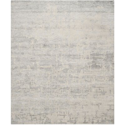 Paramkusham Tibetan Hand Knotted Natural/Silver Area Rug Rug Size: Rectangle 6 x 9