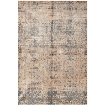 Youmans Tibetan Hand Loomed Wool Gray Area Rug Rug Size: Rectangle 8 x 10