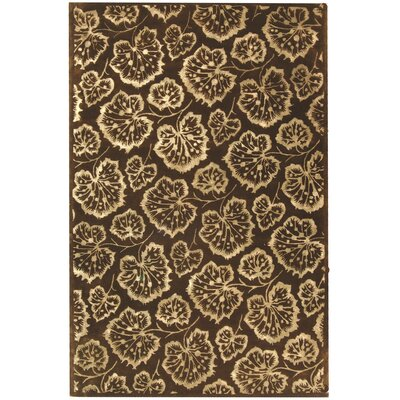 Sunny Geranium Leaf Hand Tufted Wool Assorted Area Rug Rug Size: Rectangle 56 x 86