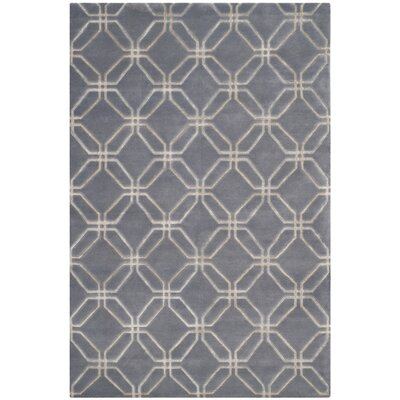 Slate Geometric Rug Rug Size: Rectangle 9 x 12