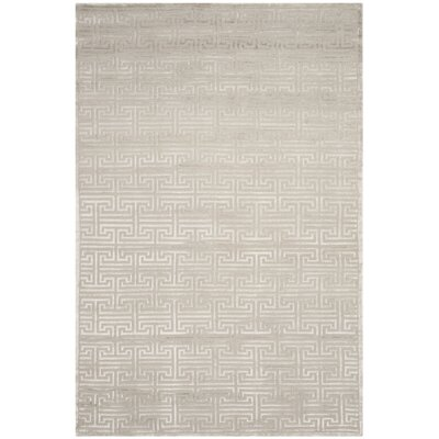 Fogg Tibetan Hand Knotted Gray Area Rug Rug Size: Rectangle 10 x 14