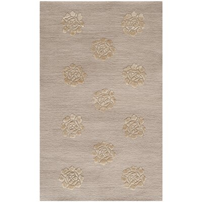 Brosley Medallions Hand Knotted Silk/Wool Quartz Area Rug Rug Size: Rectangle 79 x 99