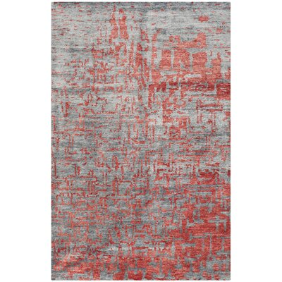 Wildhollow Tibetan Hand Knotted Gray Area Rug