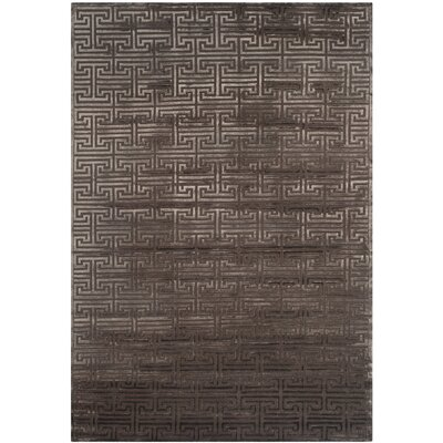 Fogg Tibetan Hand Knotted Brown Area Rug Rug Size: Rectangle 6 x 9