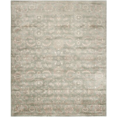 Prades Tibetan Hand Loomed Dark Gray/Ivory Area Rug Rug Size: Rectangle 6 x 9