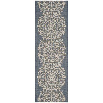 Joliet Tapestry Azurite Area Rug Rug Size: Rectangle 27 x 5