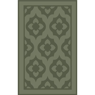 Trombetta Hand Tufted/Hand Loomed Wool Green Area Rug Rug Size: Rectangle 8 x 10