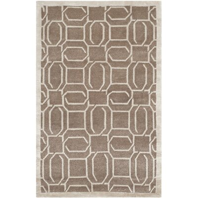 Hudnall Hand-Knotted Camel Area Rug Rug Size: Rectangle 6 x 9