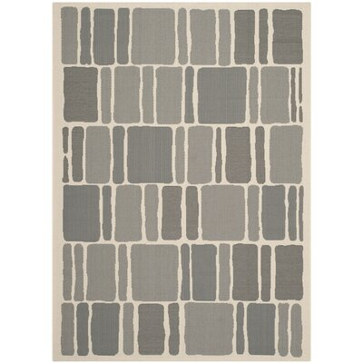 Barraza Blocks Beige/Anthracite Area Rug Rug Size: Rectangle 8 x 112