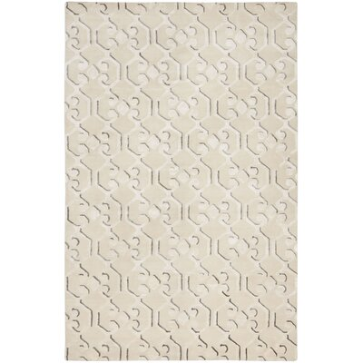 Wildhollow Tibetan Hand Knotted Ivory Area Rug Rug Size: Rectangle 10 x 14