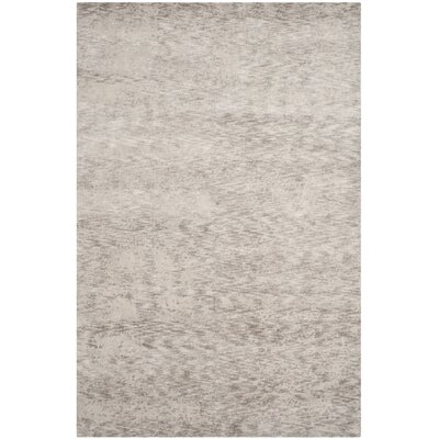 Armstrong Abstract Hand-Knotted Gray Area Rug Rug Size: Rectangle 10 x 14