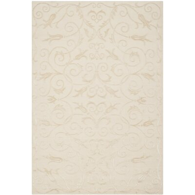 Tibetan Hand-Knotted Wool Pearl Area Rug Rug Size: Rectangle 6 x 9