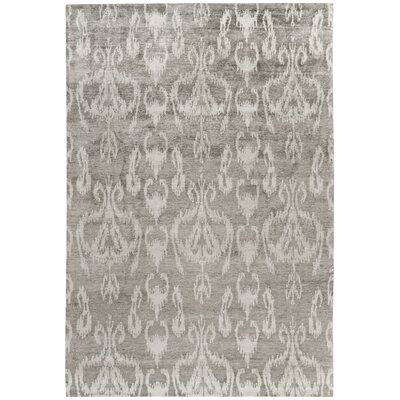 Wildhollow Tibetan Hand Knotted Gray Area Rug Rug Size: Rectangle 2 x 3