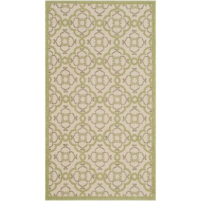 Sorensen Beige/Sweet Pea Area Rug Rug Size: Rectangle 2'7