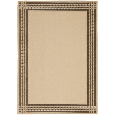 Lakeside Ribbon Natural/Chocolate Area Rug Rug Size: Rectangle 27 x 5