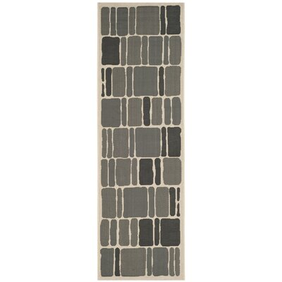 Barraza Blocks Beige/Anthracite Area Rug Rug Size: Runner 27 x 82