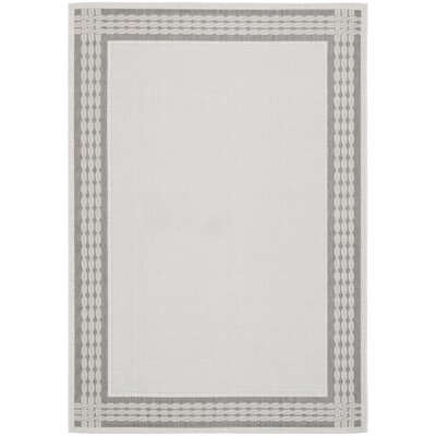 Lakeside Ribbon Gray Area Rug Rug Size: Runner 27 x 82