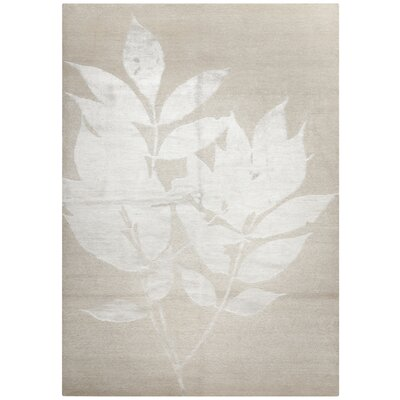 Kneiske Tibetan Hand Knotted Creme Area Rug Rug Size: Rectangle 8' x 10'