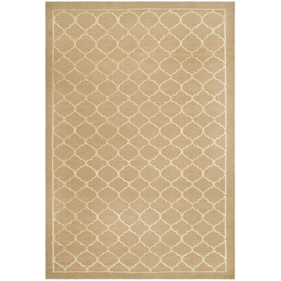Haine Tibetan Hand Knotted Silk/Wool Champagne Area Rug Rug Size: Rectangle 9 x 12