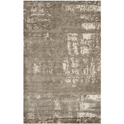 Elrod Tibetan Hand Knotted Beige Area Rug Rug Size: Rectangle 9 x 12