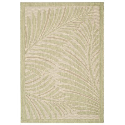 Bridgeville Tropic Palm Tan Area Rug Rug Size: Rectangle 4 x 57