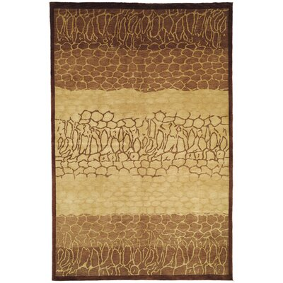 Youmans Tibetan Hand Knotted Wool Beige/Brown Area Rug Rug Size: Rectangle 6 x 9