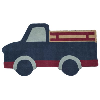 Ellery Truck Hand Tufted/Hand Loomed Wool Blue Area Rug Rug Size: Rectangle 3 x 56