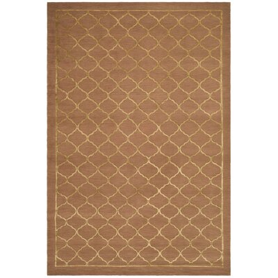 West Bromwich Tibetan Hand Knotted Silk/Wool Rust Area Rug Rug Size: Rectangle 9 x 12