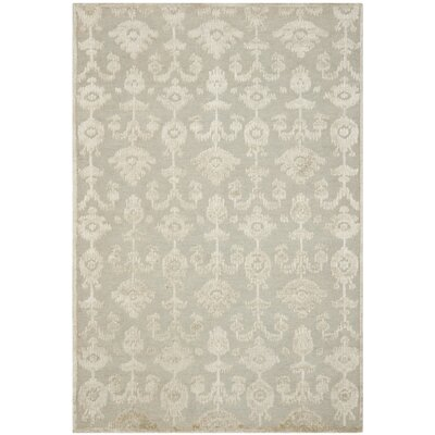 Benningfield Tibetan Hand Knotted Gray/Beige Area Rug Rug Size: Rectangle 8 x 10